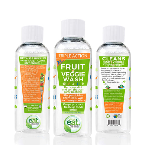 Eat Cleaner Fruit + Veggie 2X Wash Concentrate – Spray Bottle Refill (3)