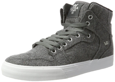 Supra Vaider LC 9 Women/7.5 Men Charcoal Wool/Silver/White