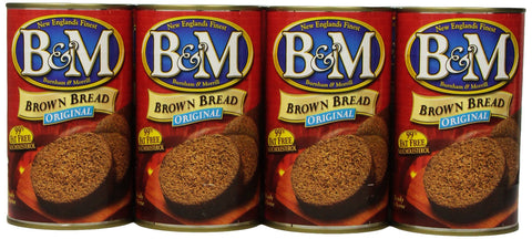 B & M Brown Bread, Original Flavor, 16 Ounce (Pack of 12)