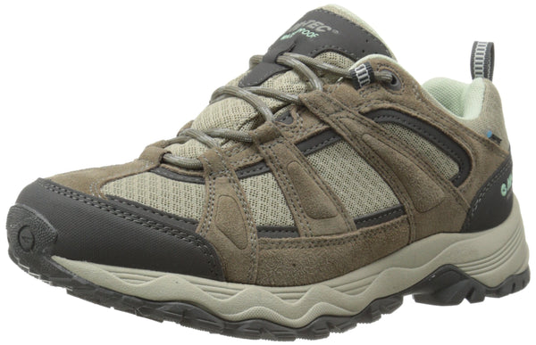 Hi-Tec Women's Perpetua Low Waterproof Hiking Shoe Taupe/Mint 11 M US