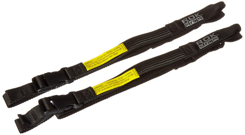 "ROK Straps ROK-10025 Black 18"" - 60"" Motorcycle/ATV Adjustable Stretch Strap 1"