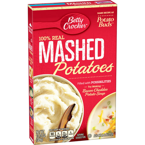 Betty Crocker Mashed Potato Buds, 13.75-Ounce (Pack of 6)