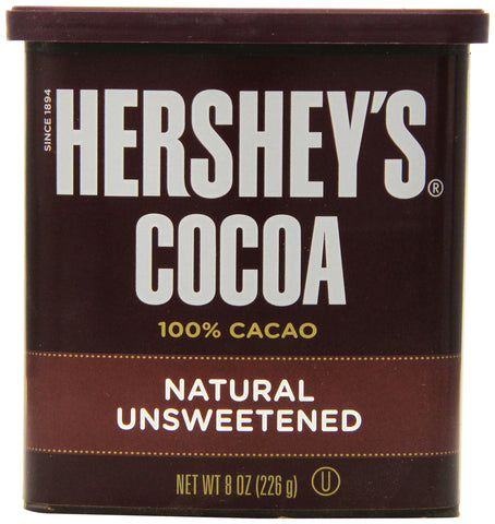 Hershey's Cocoa, Unsweetened, 8-Ounce Container