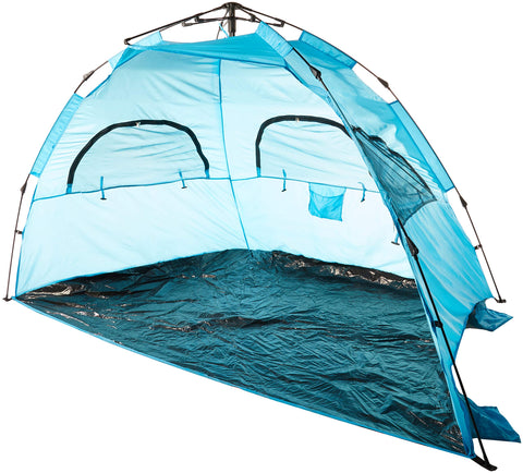 AfterGen Easy Setup Beach Tent Portable Pull to Open Sun Shelter Strong UV Protection Sun Shade Sand Surf Instant Pop-Up Umbrella Medium Size