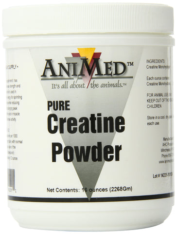 AniMed Creatine Powder Pure for Horses, 16-Ounce