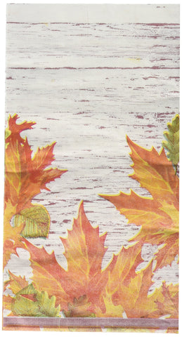 Bulk Buy: Thanksgiving Autumn Leaves Paper Guest Towels / Dinner Napkins. Pack of (6).