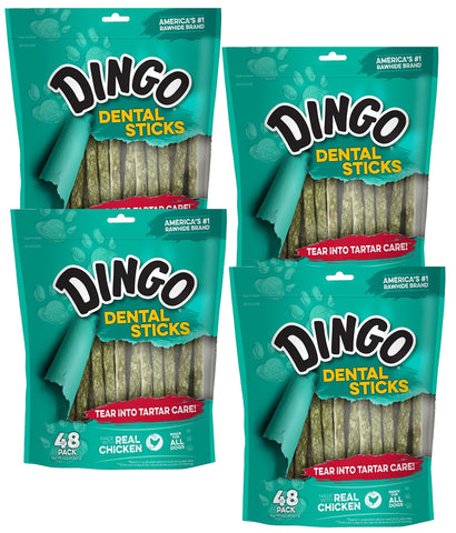 Dingo Tartar And Breath Chicken Dental Sticks For All Dogs 192-Count