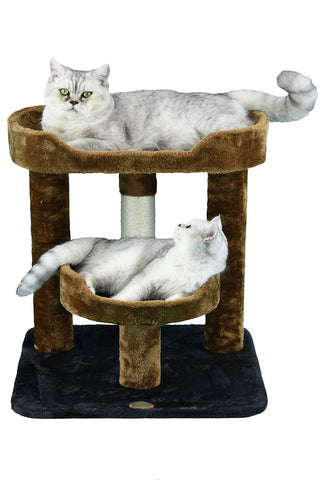 "Go Pet Club 23 in. Cat Tree Brown/Black 19.25""W x 19.25""L x 23""H"