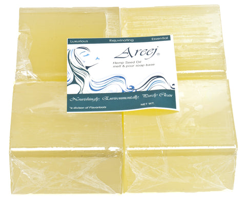 Areej Hypo-Allergenic Biodegradable Hemp Seed Oil Soap Base made with 100    Pure Natural Glycerin - 5 Pounds