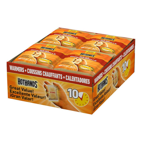 HotHands Hand Warmers - Long Lasting Safe Natural Odorless Air Activated Warmers - Up to 10 Hours of Heat - 160 Individual Warmers