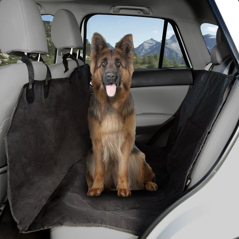 Pet Seat Cover Car Protector- Bench Hammock Backseat Liner, Quilted Waterproof All Weather Mat with Non-Slip Backing for Car/Truck/SUV by PETMAKER X-Large