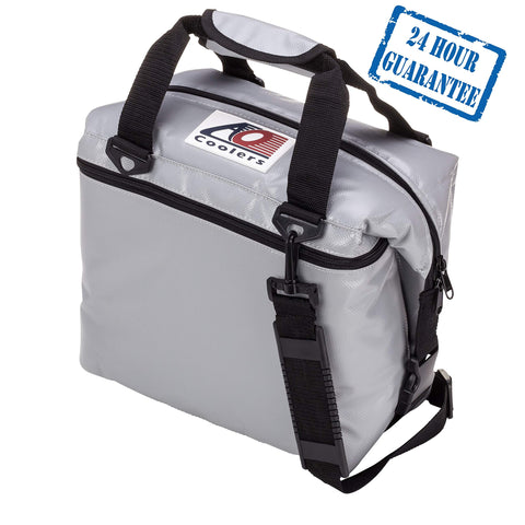 AO Coolers Sportsman Vinyl Soft Cooler with High-Density Insulation 36-can Silver