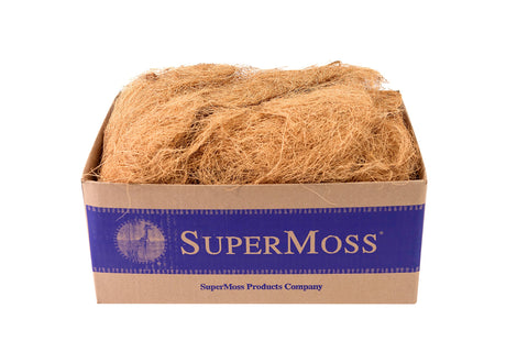 Super Moss (23286) Coco Fiber for Wire Baskets, Dried, 3lbs Natural Brown Appx. 3 lb Bulk Case