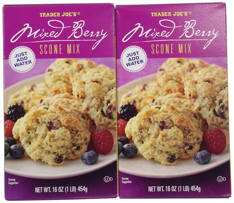 Trader Joe's Mixed Berry Scone Mix - 2 Pack