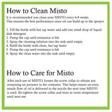 Misto Aluminum Bottle Oil Sprayer, Set of 2 Set of 2 Mistos