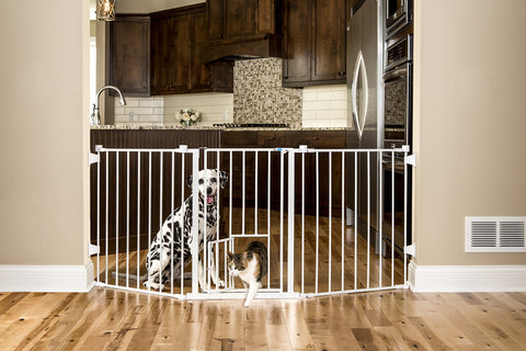 Carlson 76 Inch Wide Flexi Configurable Walk Through Pet Gate 1-Pack