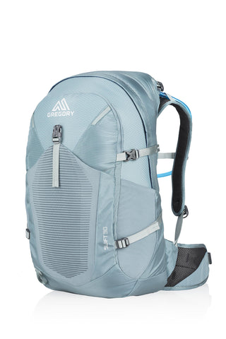 Gregory Mountain Products Women's Swift 30 Liter Day Hiking Backpack | Day Hikes, Walking, Travel | Hydration Bladder Included, Padded Adjustable Straps, Quick Access Pockets Juniper Blue One Size