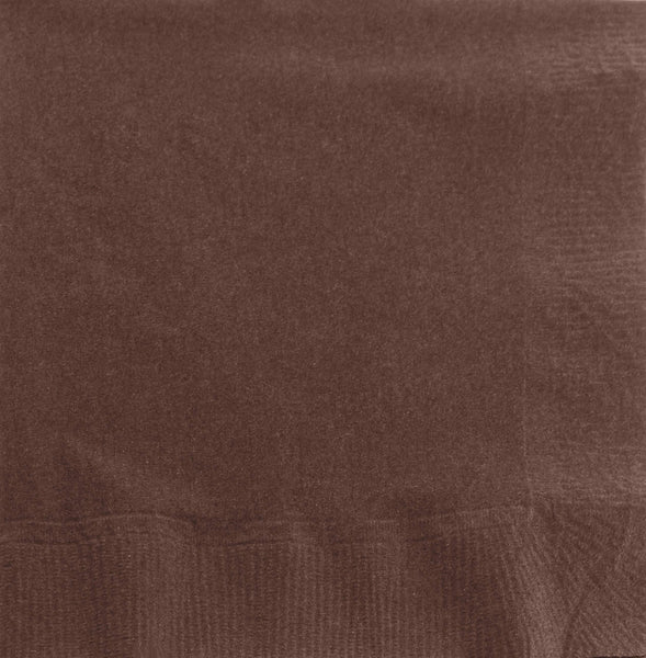 "AmazonBasics Embossed Beverage Napkin, 2-Ply, 1/4 Fold, 9.5"" x 9.5"", Chocolate Brown, 1000-Count"