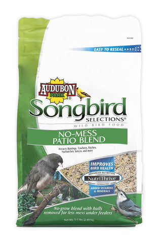 Songbird Selections 11987 No-Mess Patio Blend Wild Bird Food, 5.5-Pound
