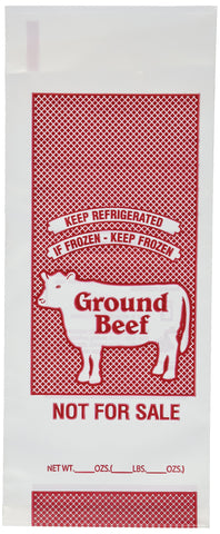 Ground Beef Freezer Bags - 1 Lb. Size - Package of 100