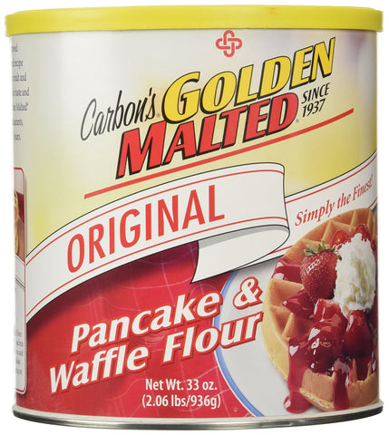 Golden Malted Waffle and Pancake Flour, Original, 33-Ounce Can 33 ounce