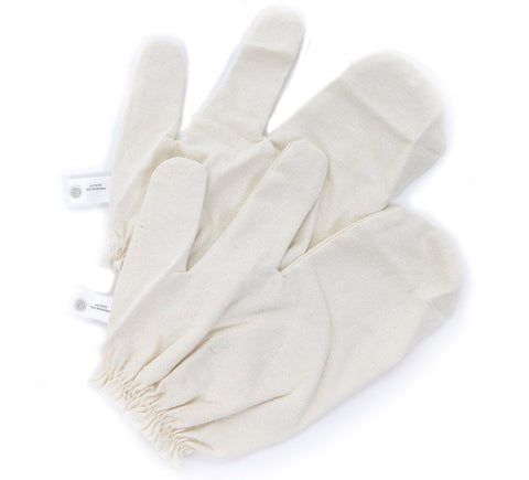Dry Brush Skin Massage. Skin Exfoliating Garshana Raw Silk Gloves – More Radiant Smooth Skin- Reduce Cellulitis – Improve Blood Flow – Remove Toxins – 1 Pair. Makes a Great Gift