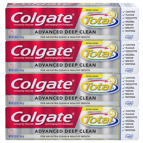 Colgate Total Advanced Deep Clean Toothpaste, 5.8 Ounce, 4 Count 5.8 ounce (Pack of 4)