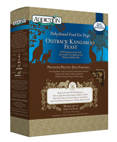 Addiction Grain Free Dehydrated Dog Food Kangaroo & Apple 2 Pound