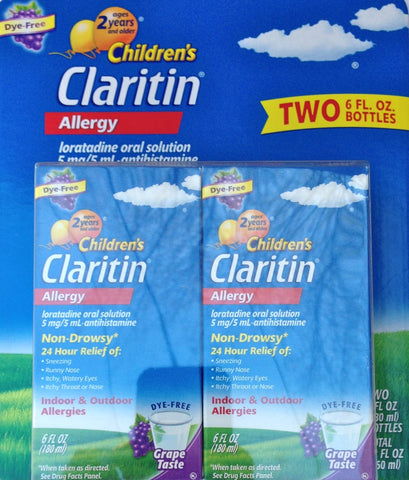 Claritin Children's Grape Syrup, 2 Count