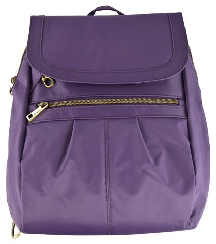 Travelon Anti-Theft Signature Slim Backpack (Violet) Violet