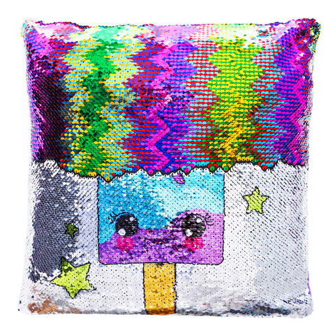 Sequin Pillow Gift for Girls - Magical Reversible Sequin Pillow (Including Insert) for Girls Bedroom Décor - Great Birthday Gifts for Girls of All Ages