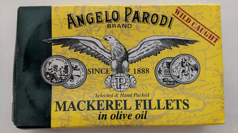 Angelo Parodi - Mackerel Fillets in Olive Oil - 4.4oz (10-pack) 10-pack