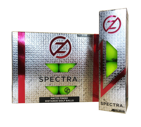 Zero Friction Spectra Golf Balls Neon Lime