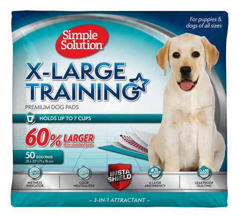 Simple Solution Training Puppy Pads | 6 Layer Dog Pee Pads, Absorbent Leak Proof 50 ct