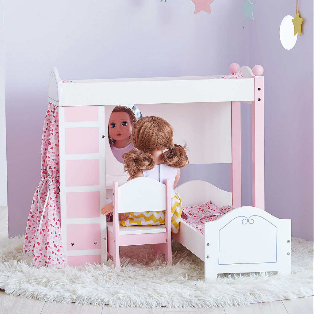 Marvelous Doll Loft Bunk Bed Set With Vanity And Chair Amazing Odyssey Ocoug Best Dining Table And Chair Ideas Images Ocougorg