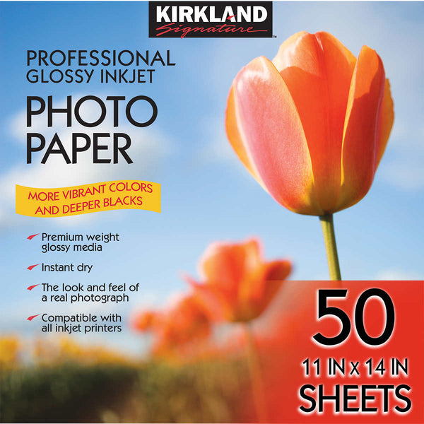 "Kirkland Signature 11"" x 14"" Professional Glossy Photo Paper"
