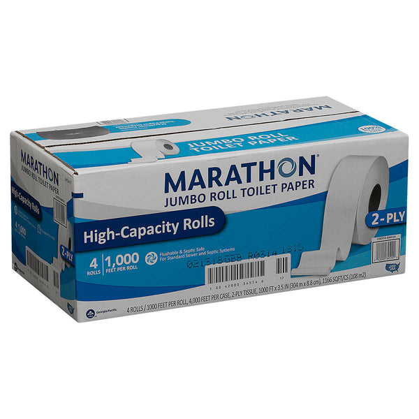 Marathon Bath Tissue, Jumbo Roll, 1,000 ft, 4-count
