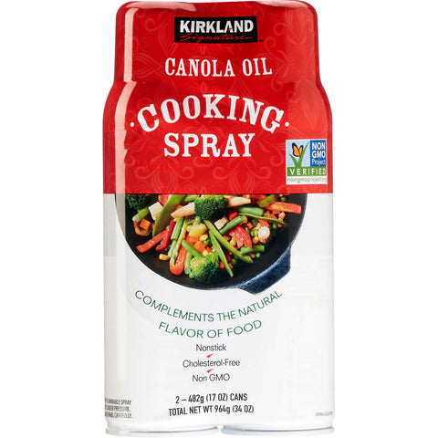 Kirkland Signature Canola Oil Cooking Spray 17 oz., 2-count