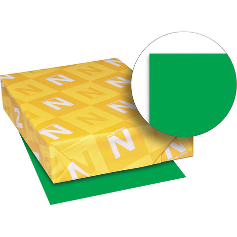 Neenah Astrobrights Color Paper, Letter, 24lb, 500 Sheets, Gamma Green