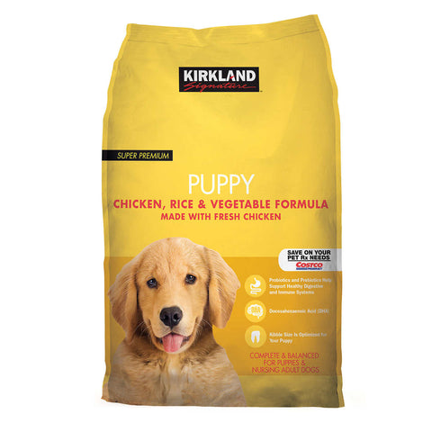 Kirkland Signature Puppy Formula Chicken, Rice and Vegetable Dog Food 20 lb.