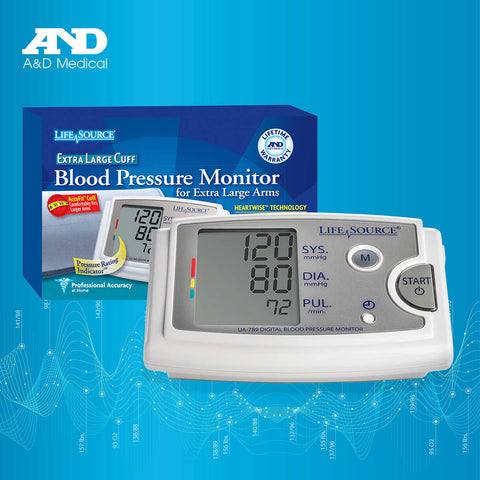 A&D Medical Blood Pressure Monitor with AccuFit Extra Large Cuff