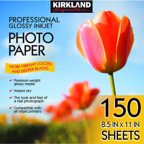 "Kirkland Signature 8.5"" x 11"" Professional Glossy Photo Paper"