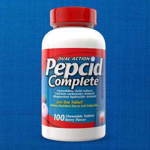 Pepcid Dual Action Complete, 100 Chewable Tablets