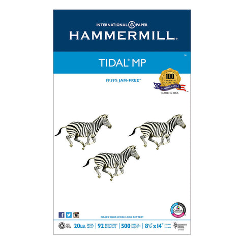 Hammermill Tidal MP 10% Recycled Printer Paper, Legal, 20lb, 92-Bright, 500 sheets