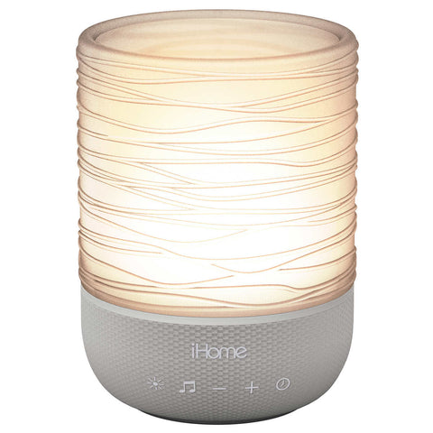 iHome Zenergy Meditative Light & Sound Therapy Candle - Grey