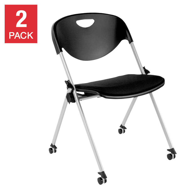 Alera SL Series Stack Chair, Black, 2-pack
