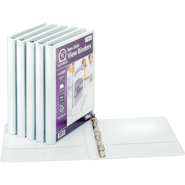 "Tops Non-stick 1/2"" View Binder, 6-count"