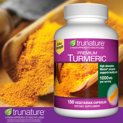 trunature Premium Turmeric 1000 mg., 150 Vegetarian Capsules