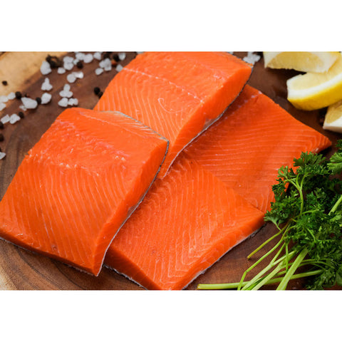 Northwest Fish Wild Alaskan Sockeye Salmon Fillet Portions, 10 lbs
