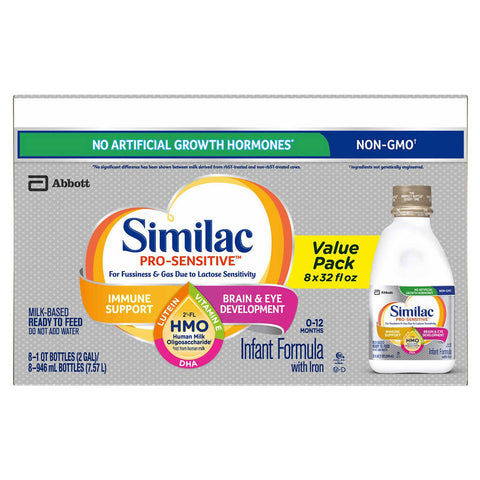 Similac Pro-Sensitive HMO Ready To Feed Infant Formula 32 fl oz, 8-count